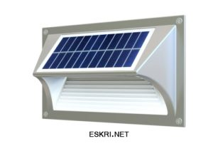 Solar step wall light ESL-06, eskri.net